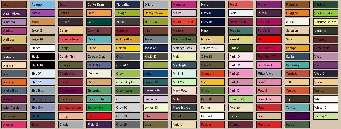 Gatta tabulka barev